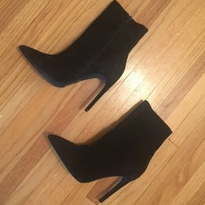 Jeffrey Campbell Suede Stiletto Ankle Boots